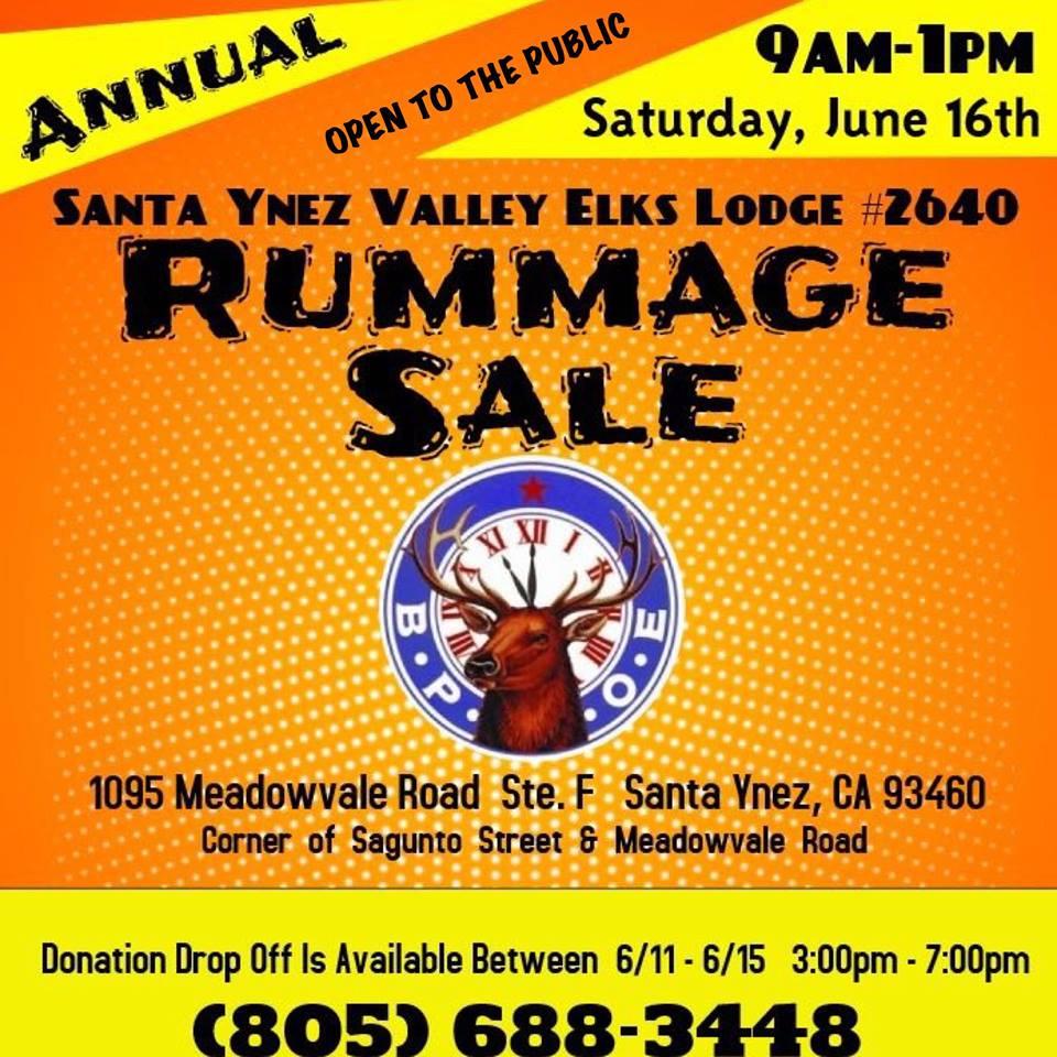 Santa Ynez Elks Rummage Sale