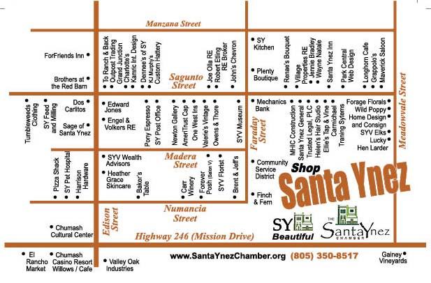 Santa Ynez Map