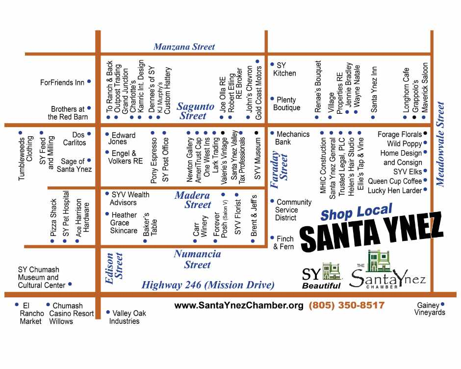 Map of Santa Ynez