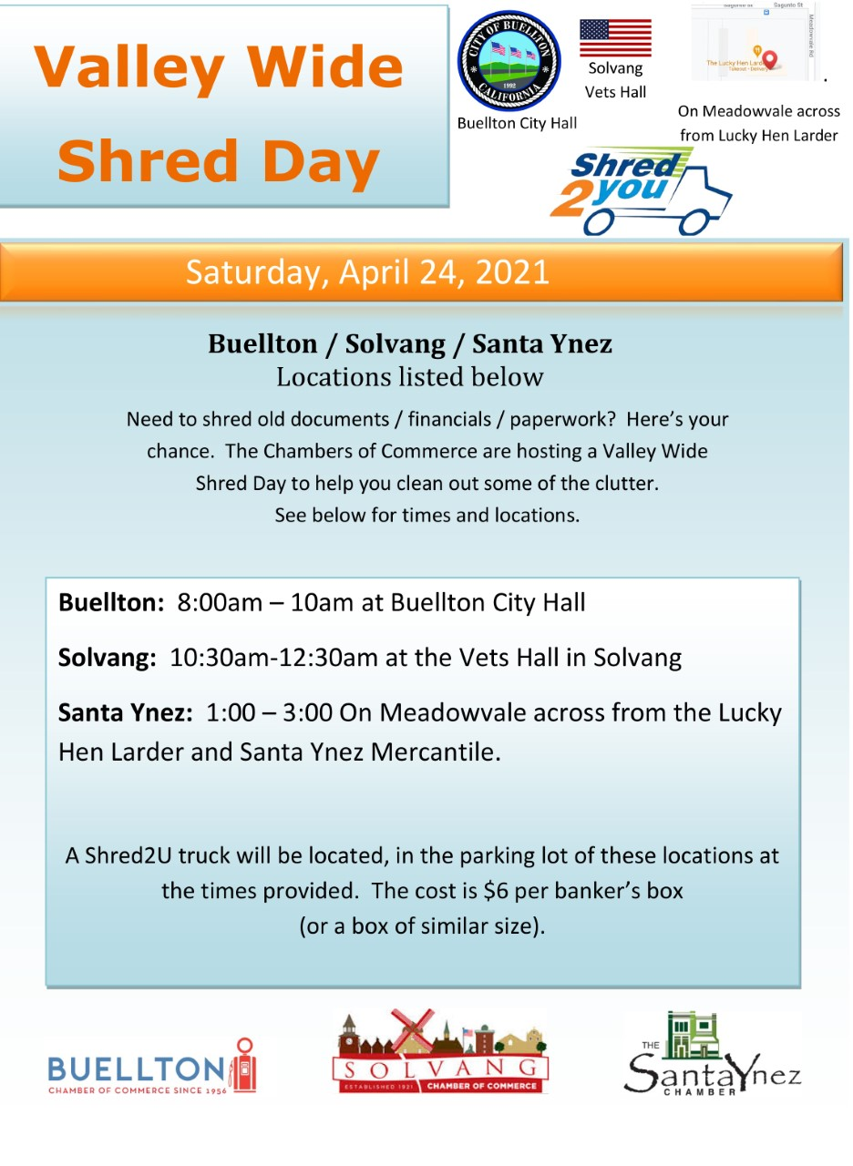 Valley Wide Shred Day